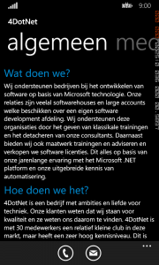 MainPage.xaml Windows Phone screenshot