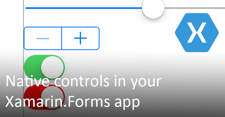 Embedding native controls in your Xamarin.Forms app header