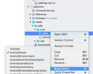pdfjs library in the Android Assets