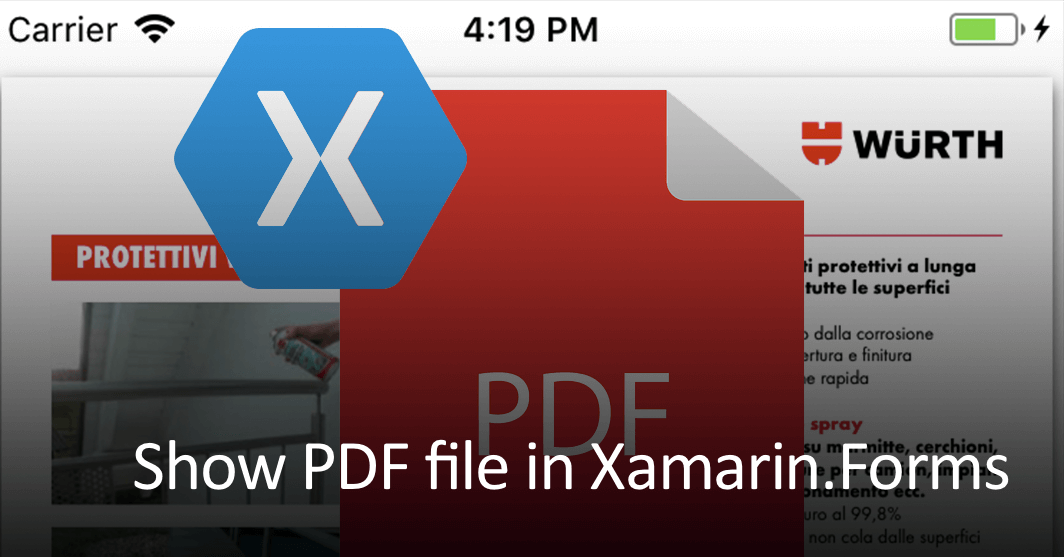 Showing PDF files in Xamarin.Forms
