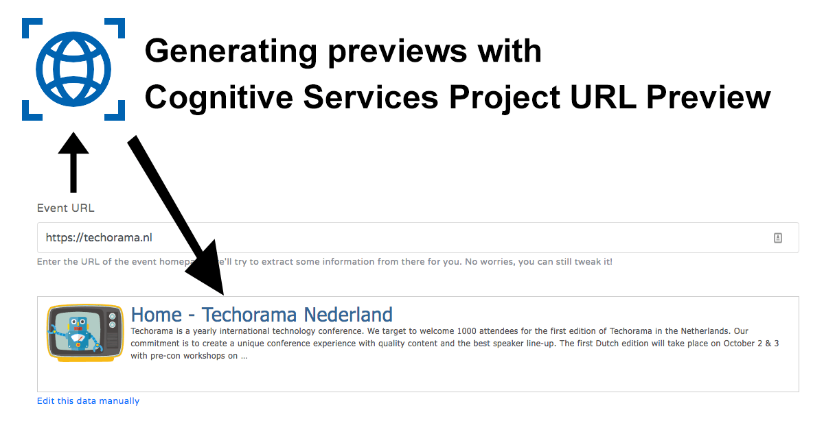 URL Preview with Cognitive Services Project URL Preview