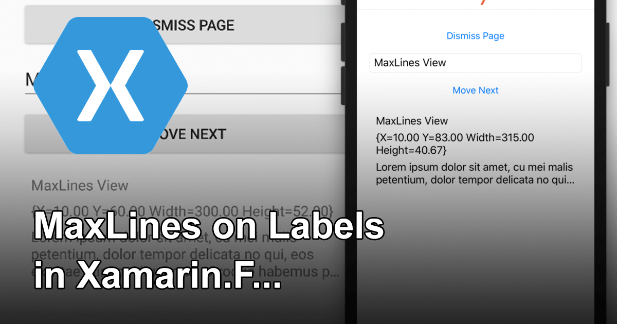 MaxLines on Labels in Xamarin.Forms