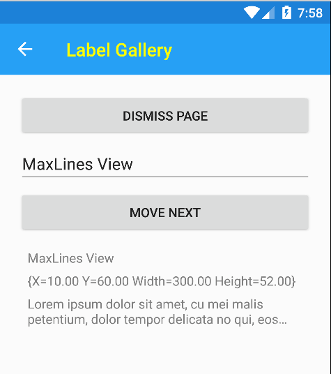 MaxLines and LineBreakMode in action on Android