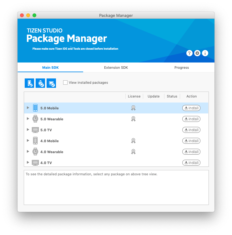 Tizen Package Manager