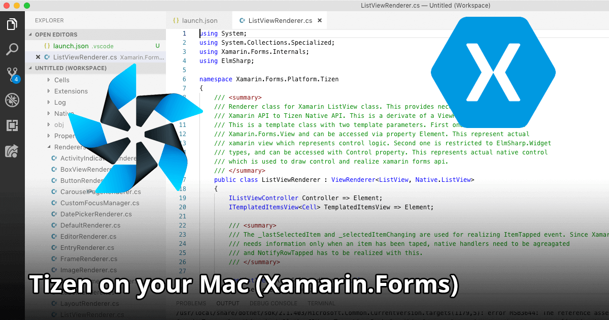 Tizen on your Mac (Xamarin.Forms)